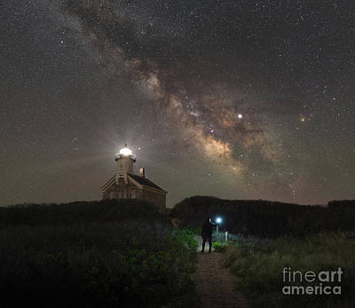 Photograph - Midnight Explorer At North Lighthouse by Michael Ver Sprill