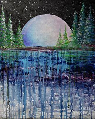 Painting - Midnight Moonlight by Jacqueline Athmann