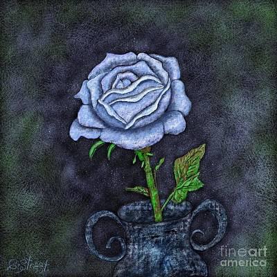 Digital Art - Midnight Rose by Caroline Street