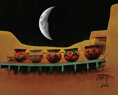 Digital Art - Midnight Taos by Terry Fiala