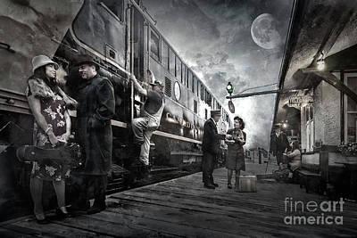 Transportation Digital Art - Midnite Run by Brad Allen Fine Art