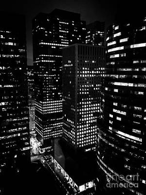Midtown Manhattan, Nyc, Clear Winter Night Art Print by JMerrickMedia