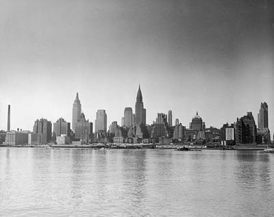 Photograph - Midtown Manhattan Skyline From East by Getty Images