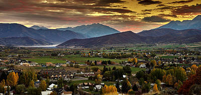Photograph - Midway City Sunset - Midway Utah by TL Mair