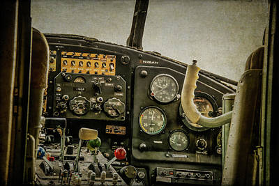 Photograph - Mielec An2 Cockpit by Guy Whiteley