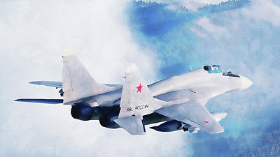 Beers On Tap - Mig 29 - 09 by AM FineArtPrints