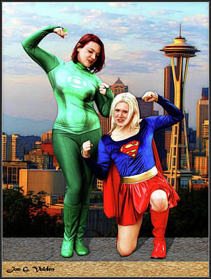 Photograph - Mighty Heroes In Seattle by Jon Volden