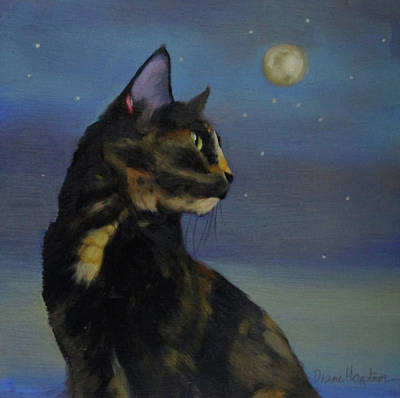 Mighty Tortie Art Print by Diane Hoeptner
