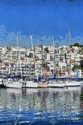 Painting - Mikrolimano Port II by George Atsametakis