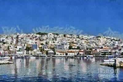 Painting - Mikrolimano Port IIi by George Atsametakis