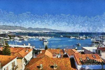 Painting - Mikrolimano Port Iv by George Atsametakis