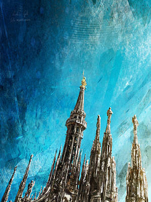Digital Art - Milan Cathedral Vertical Bright by Andrea Gatti