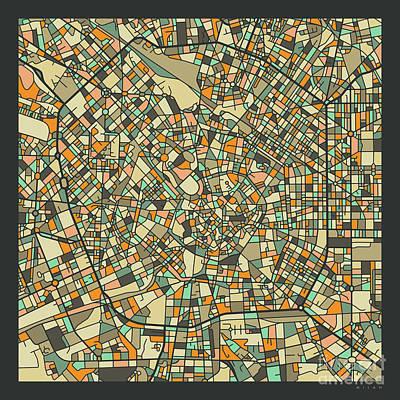 Milan Wall Art - Digital Art - Milan Map 2 by Jazzberry Blue