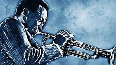 Painting - Miles Davis - 11 by Andrea Mazzocchetti