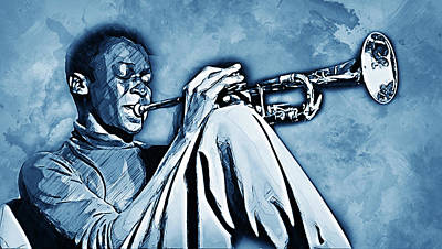 Painting - Miles Davis - 14 by Andrea Mazzocchetti