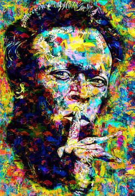 Painting - Miles Davis - 15 by Andrea Mazzocchetti