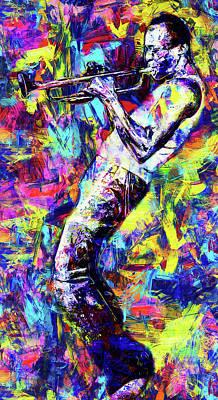 Painting - Miles Davis - 17 by Andrea Mazzocchetti