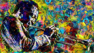 Painting - Miles Davis - 18  by Andrea Mazzocchetti