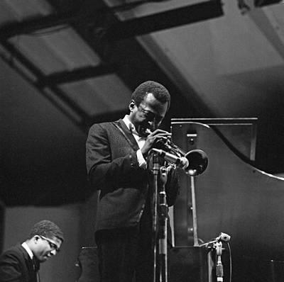 Photograph - Miles Davis At Newport by David Redfern