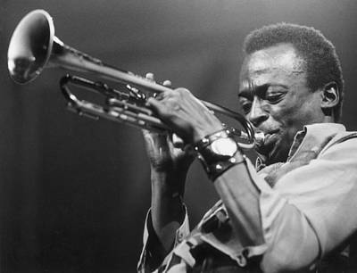 Music Photograph - Miles Davis by Express Newspapers