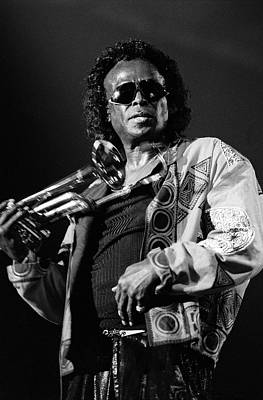Photograph - Miles Davis Live At North Sea Jazz by Paul Bergen