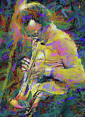 Jazz Mixed Media Royalty Free Images - Miles Davis  Royalty-Free Image by Mal Bray