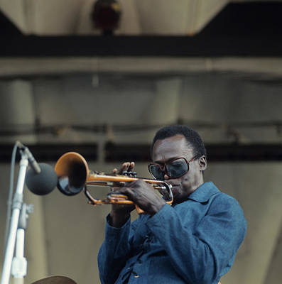 Photograph - Miles Davis Performs At Newport by David Redfern