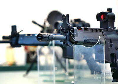 Photograph - Military High Velocity Assault Rifles by Yali Shi