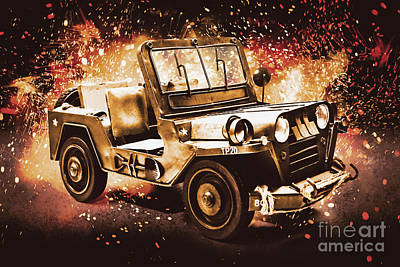 Rusty Trucks - Military machine by Jorgo Photography - Wall Art Gallery