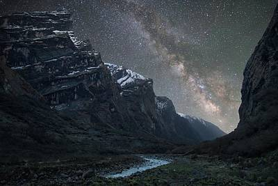 Photograph - Milky Way Above Himalayas by Anton Jankovoy