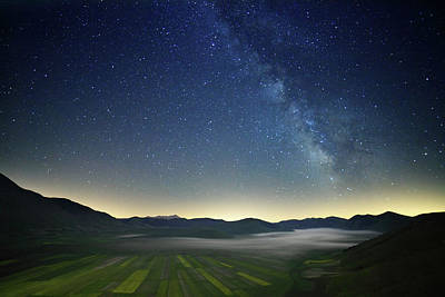 Photograph - Milky Way And Fields by Manuelo Bececco Global Nature Photographer