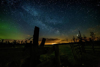Photograph - Milky Way and Northern Lights by Dixon Pictures