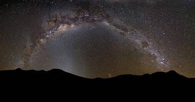 Photograph - Milky Way Around Uturuncu - Bolivia by © Lostin4tune - Cedrik Strahm - Switzerland