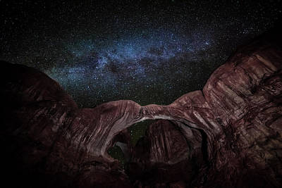 Photograph - Milky Way At Double Arch by David Morefield