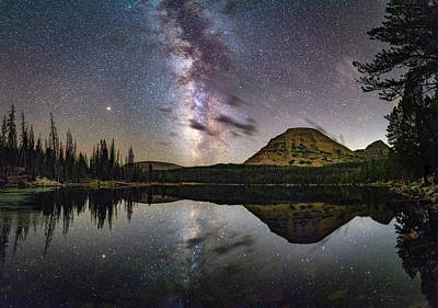 Photograph - Milky Way At Mirror Lake by Michael Ash