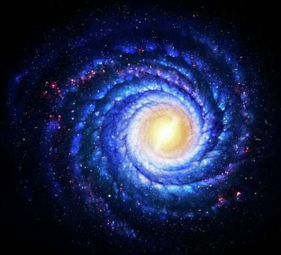 Digital Art - Milky Way Galaxy, Artwork by Mark Garlick