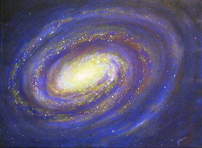 Painting - Milky Way Galaxy by Jean Ehler
