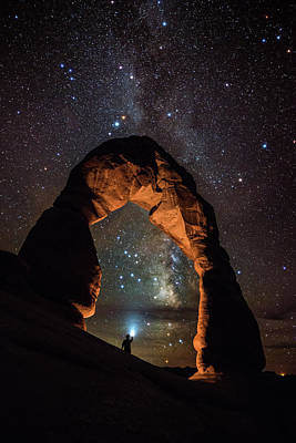 Photograph - Milky Way Illumination At Delicate Arch by Mike Berenson / Colorado Captures