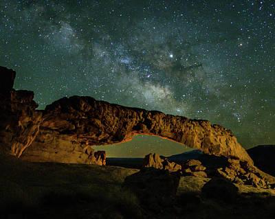 Photograph - Milky Way In Escalante by Laura Hedien