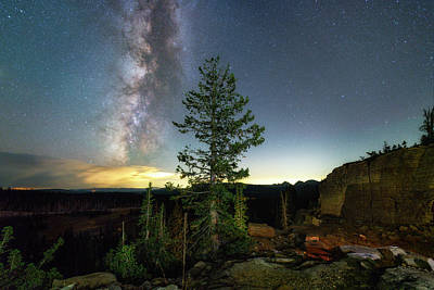 Photograph - Milky Way In The Uinta Mountains by Michael Ash