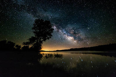 Photograph - Milky Way Lake Reflection by Dixon Pictures