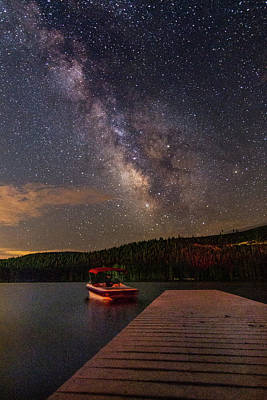 Photograph - Milky Way On Donner Lake by Jack Peterson