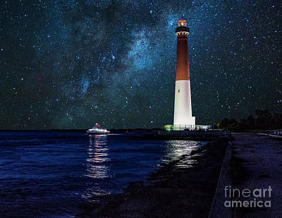 Photograph - Milky Way Over Barnegat Light by Nick Zelinsky