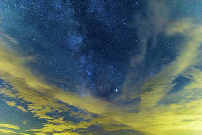Photograph - Milky Way Over Blue Ridge Mountains  by Stefan Mazzola