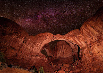 Photograph - Milky Way Over Double Arch by Andy Crawford