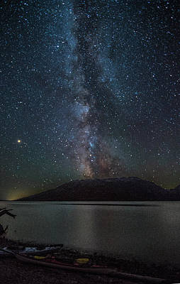 Photograph - Milky Way Over Jackson Lake by Matthew Irvin
