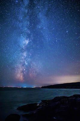 Photograph - Milky Way Over Mount Desert Island by Stefan Mazzola