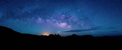 Photograph - Milky Way Over Mule Ears Viewpoint by David Morefield