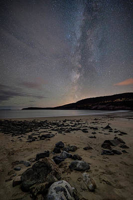 Photograph - Milky Way Over Sand Beach by Darylann Leonard Photography