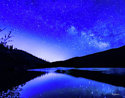 Milky Way Over Springtime Echo Lake Art Print